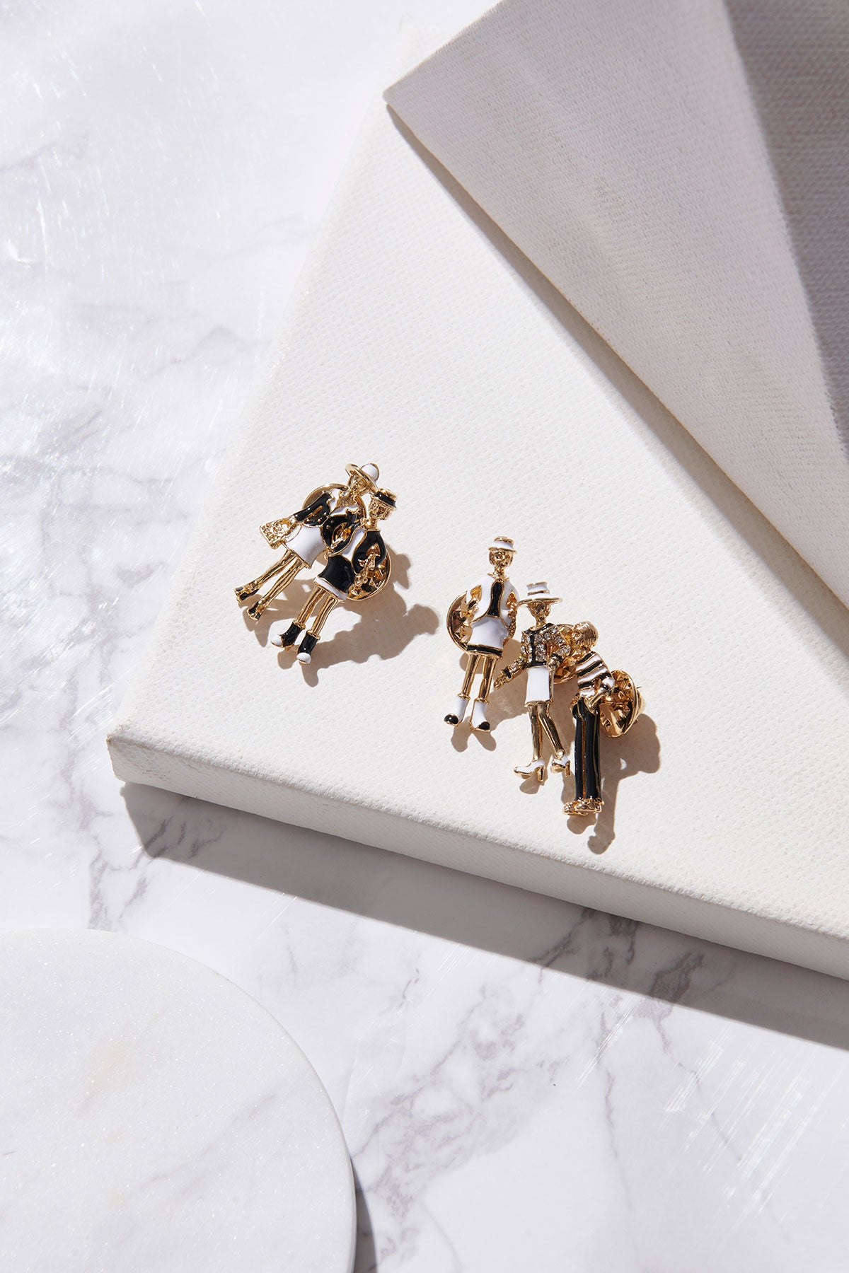 Figure Brooch Set of 5-Gold