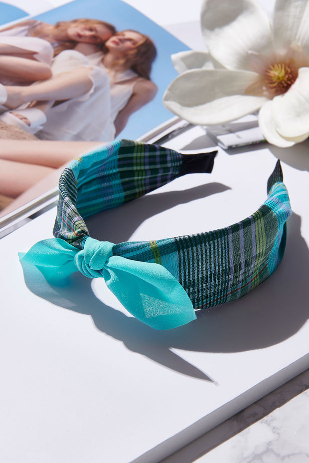 storets.com Plain Ribbon Checked Hairband