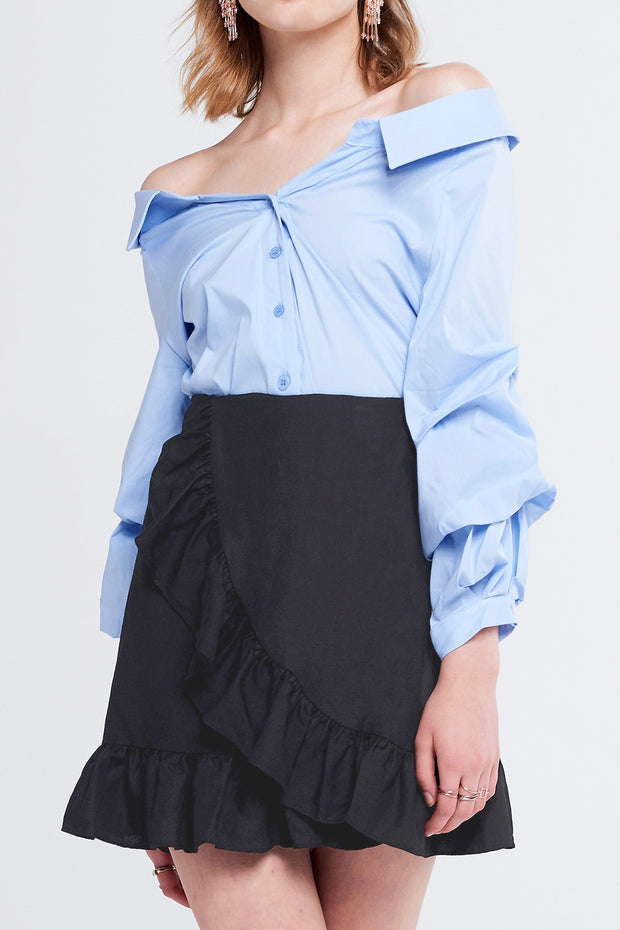 Jeny Ruffle Mini Skirt