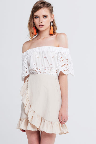 storets.com Lina Off-the-Shoulder Top