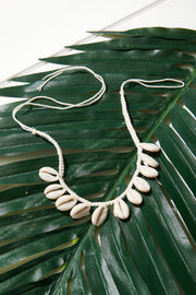 Cowrey Necklace-Ivory