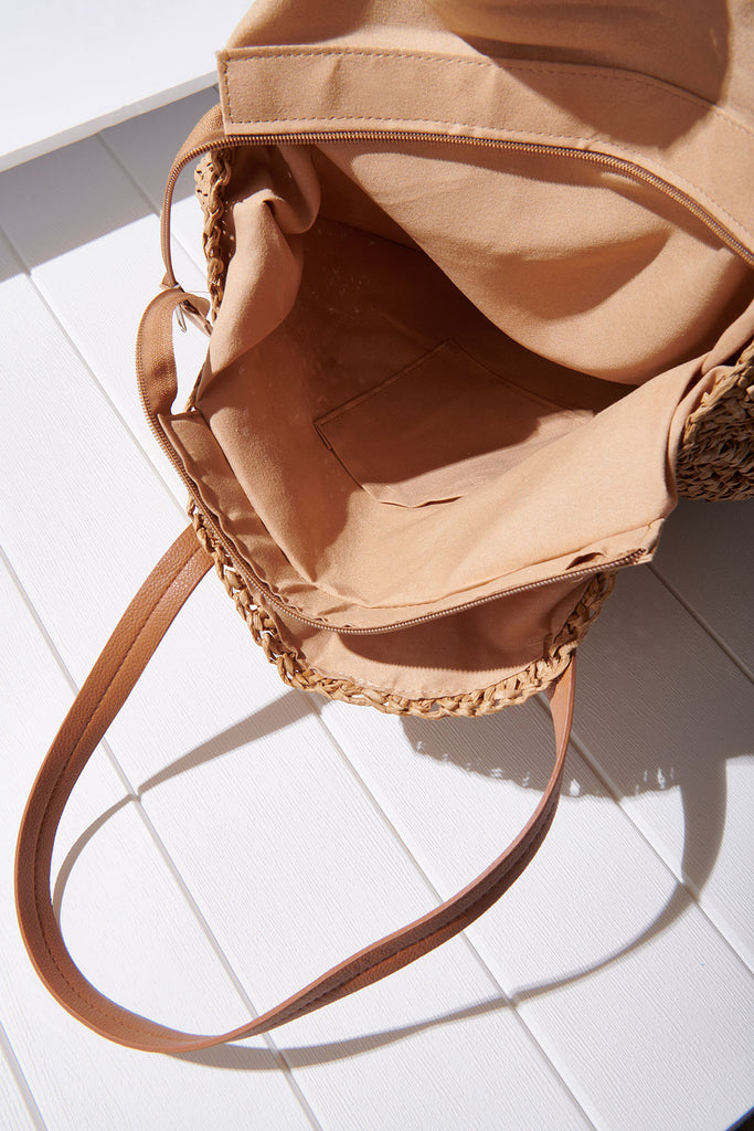 Round Weaved Shoulder Bag