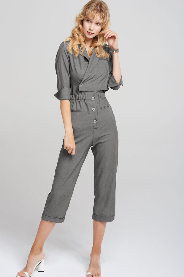 Miriam Wrap Top Jumpsuit-2 Colors