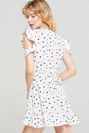 Monica Open Arm Dotted Dress