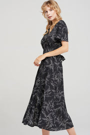 Irene Pea Button Maxi Dress-2 Colors