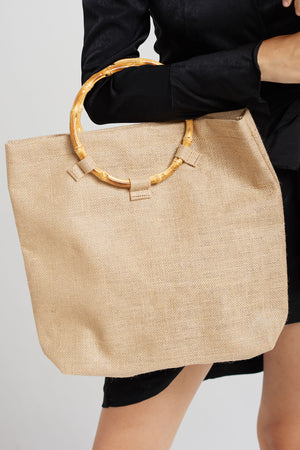 Ring Handle Bag-Beige