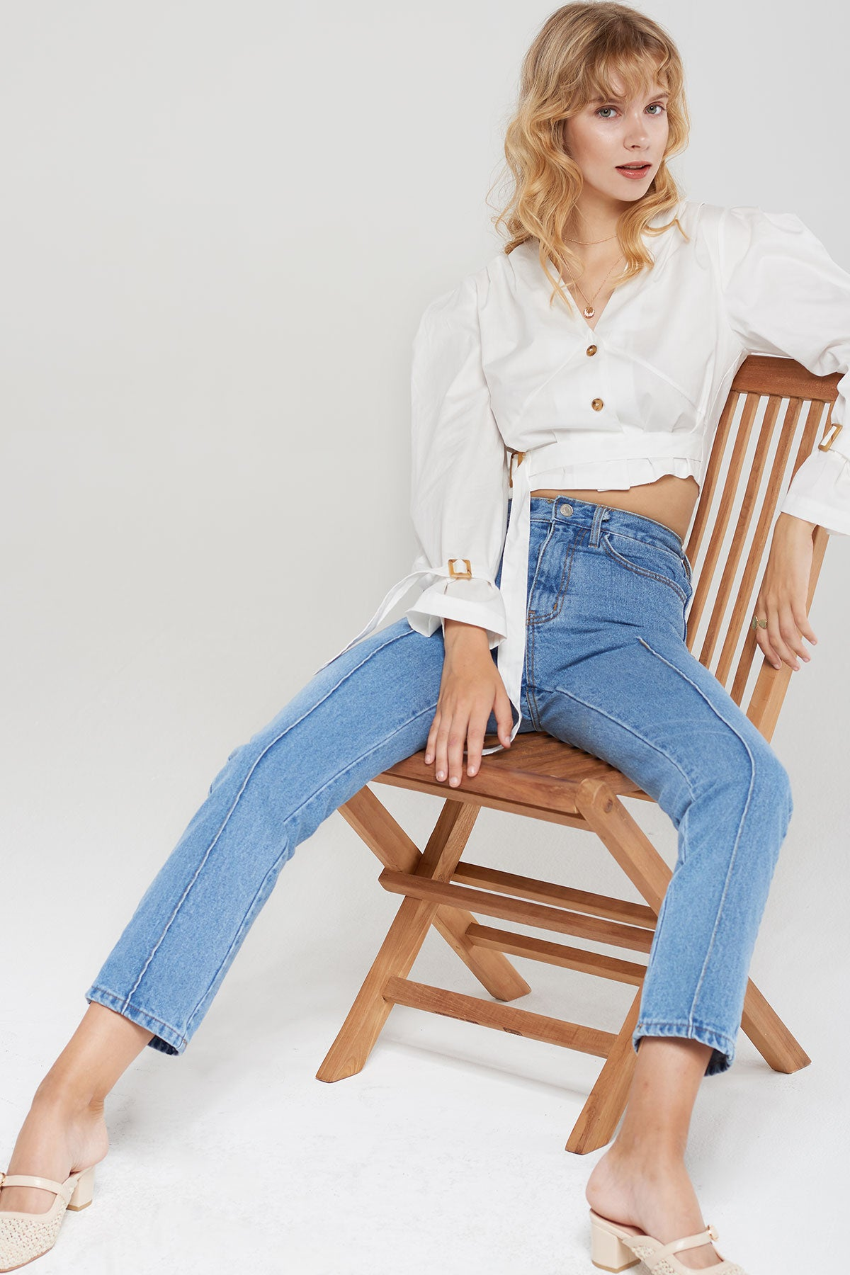 Myrtle Front Pintuck Jeans