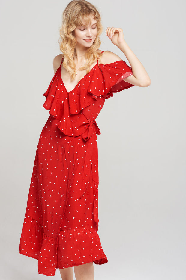 storets.com Celeste Wrapped Heart Dress-2 Colors