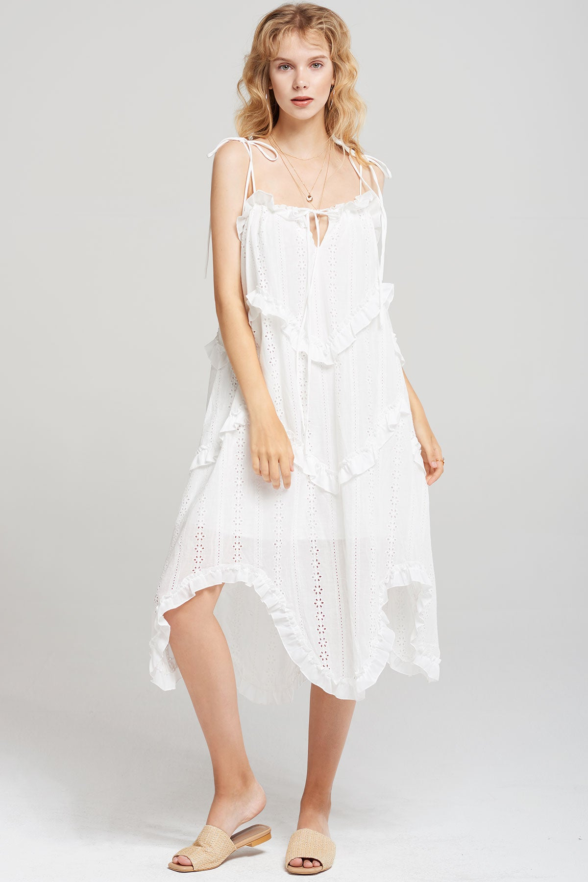 Daisy Tiered Ruffle Off Shoulder Dress