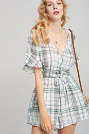 Sabrina Plaid Check Romper