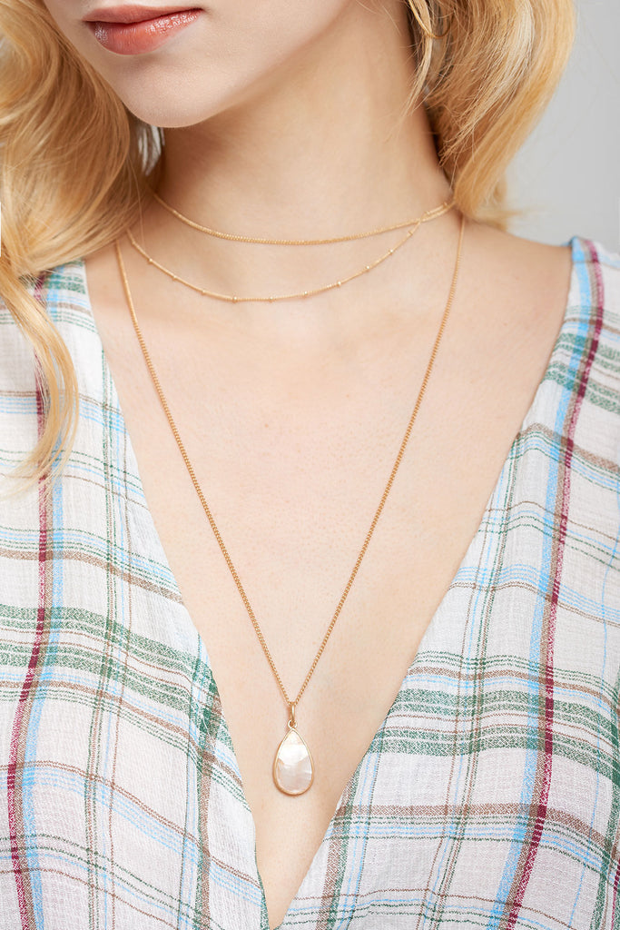 Pearl Waterdrop Necklace-2 Colors