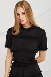 Amelia Lace Trim Top