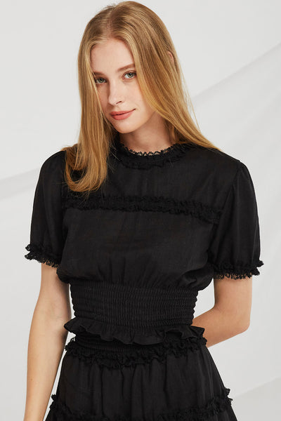 storets.com Amelia Lace Trim Top