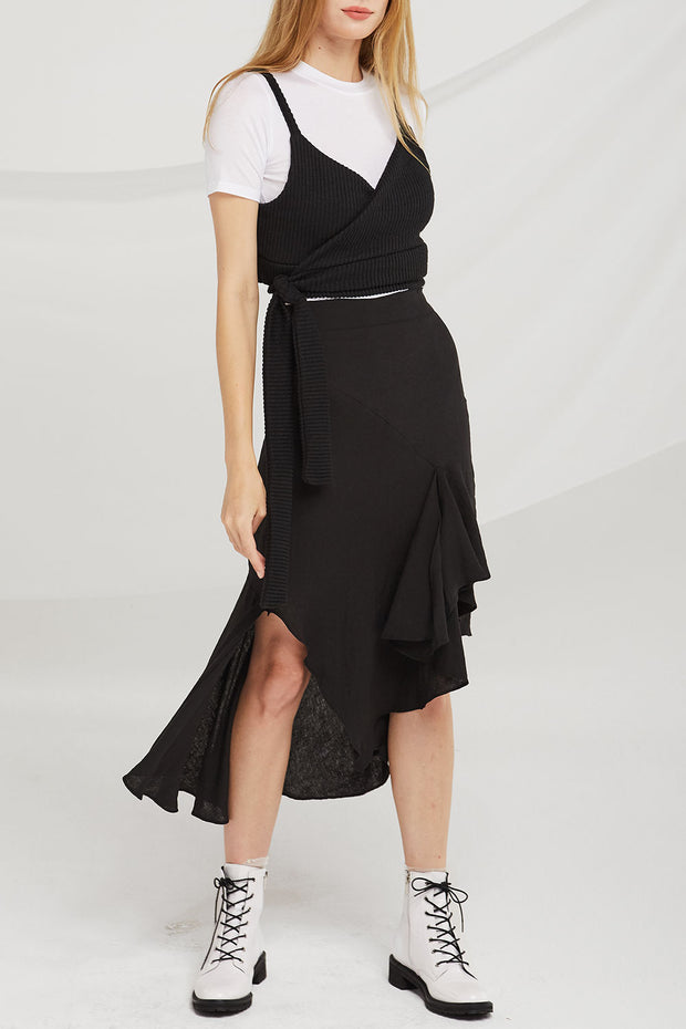 Willa Irregular Hem Floaty Skirt