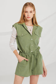 Zoey Snap Front Romper