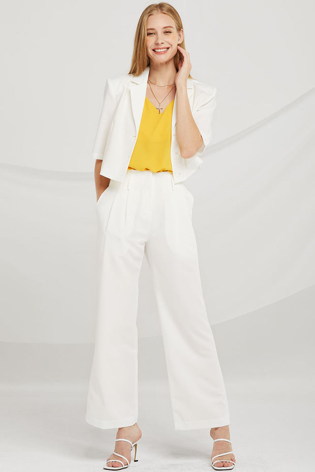 Dani Notch Lapel Crop Jacket