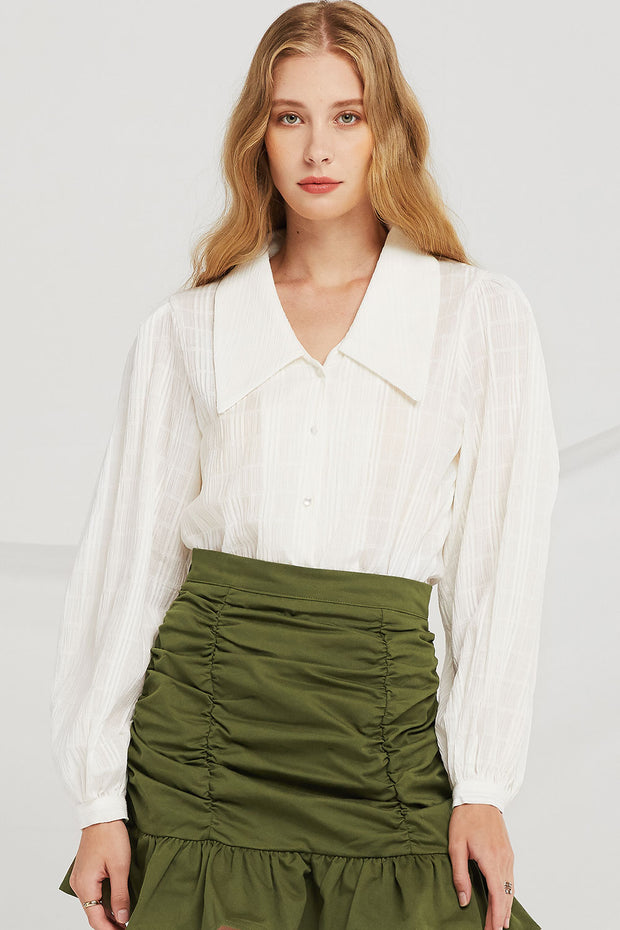 Gianna Wide Collar Blouse
