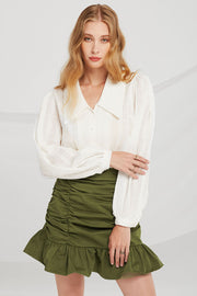 storets.com Gianna Wide Collar Blouse
