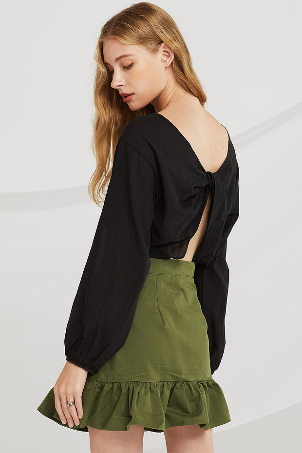 storets.com Ana Twist-Knot Crop Top