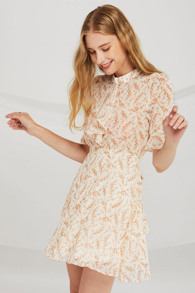 Leah Sheer Floral Dress