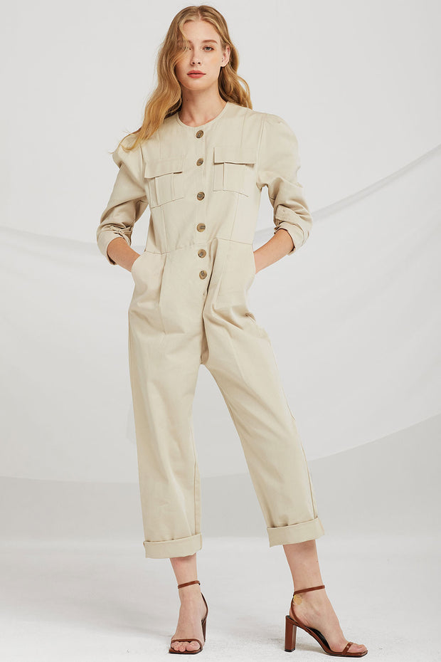 Hailey Pocket Utility Jumpsuit