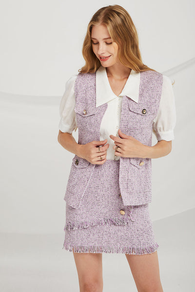 Willow Jewel Button Tweed 2-Piece Set