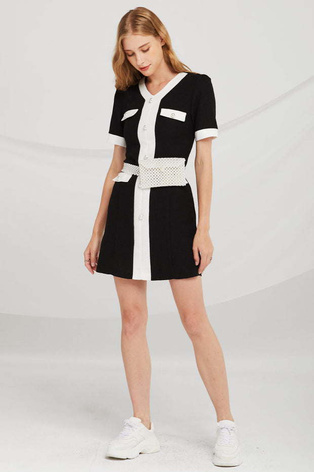 storets.com Camila Contrast Trim Dress