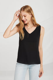 Sarah V-Neck Sleeveless Blouse
