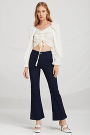 storets.com Bella Ruched Drawstring Blouse