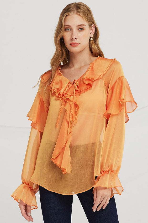 Jane Tiered Ruffle Blouse