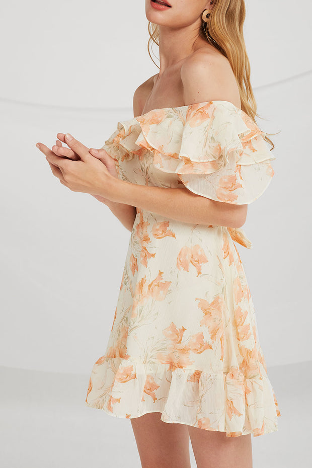 Sarah Floral Tiered Ruffle Dress