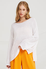 London Oversized Boat Neck Pullover