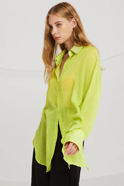 Piper Sheer Shirt w/Back Slit