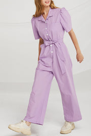 storets.com Alice Puff Sleeve Jumpsuit w/Belt