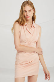Mia Ruched Shirt Dress