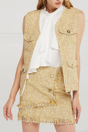 storets.com Willow Jewel Button Tweed Vest