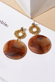 Marbel Drop Earrings