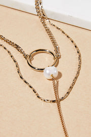 Circle Drop Layered Necklace