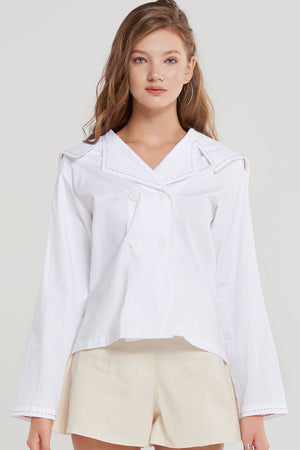 Selena Sailor Collar Blouse
