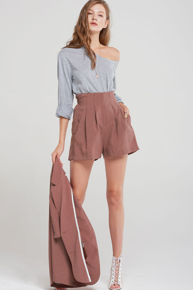 Milton Pintucked Shorts