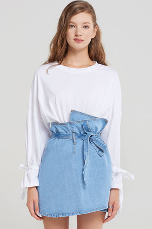 Amy Denim Wrap Skirt