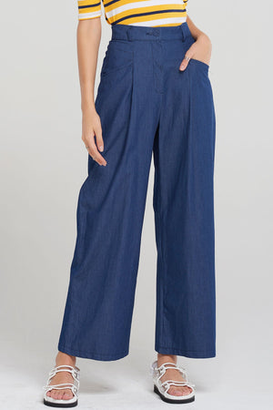 Selina Wide Denim Pants