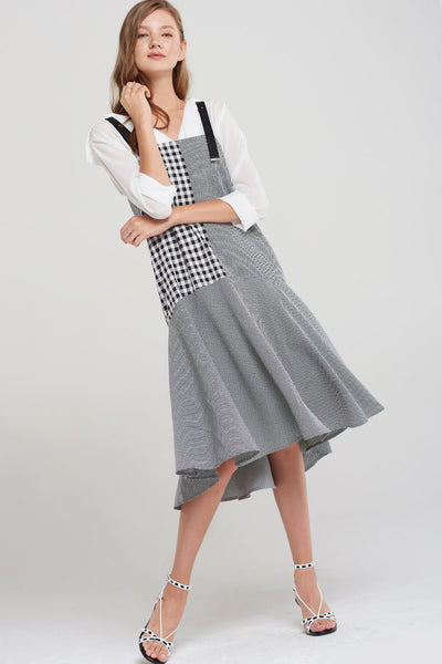 Sherry Check Panel Dress