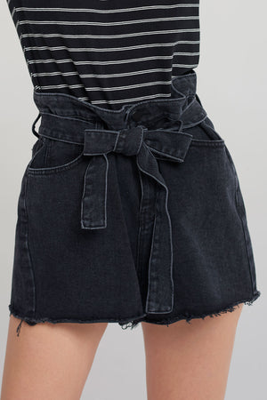 Edith Belt Denim Shorts
