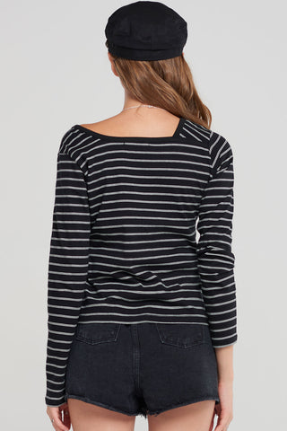 Adrian Striped Swoop Tee