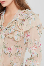 Elise Ruffled Blouse-2 Colors