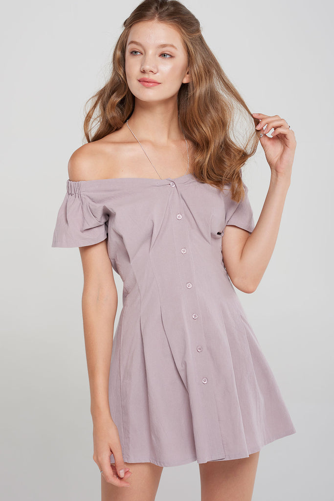 Zora Off The Shoulder Dress-2 Colors