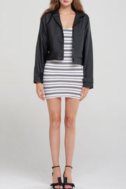 storets.com Peggy Boxy Pleather Jacket