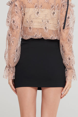 Stacey Twisted Mini Skirt