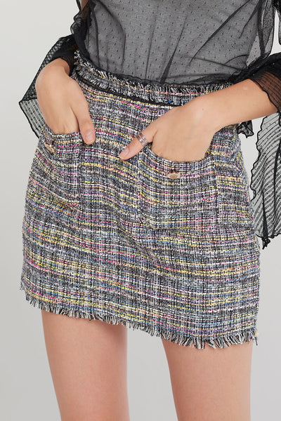 Tweety Mini Tweed Skort-2 Colors